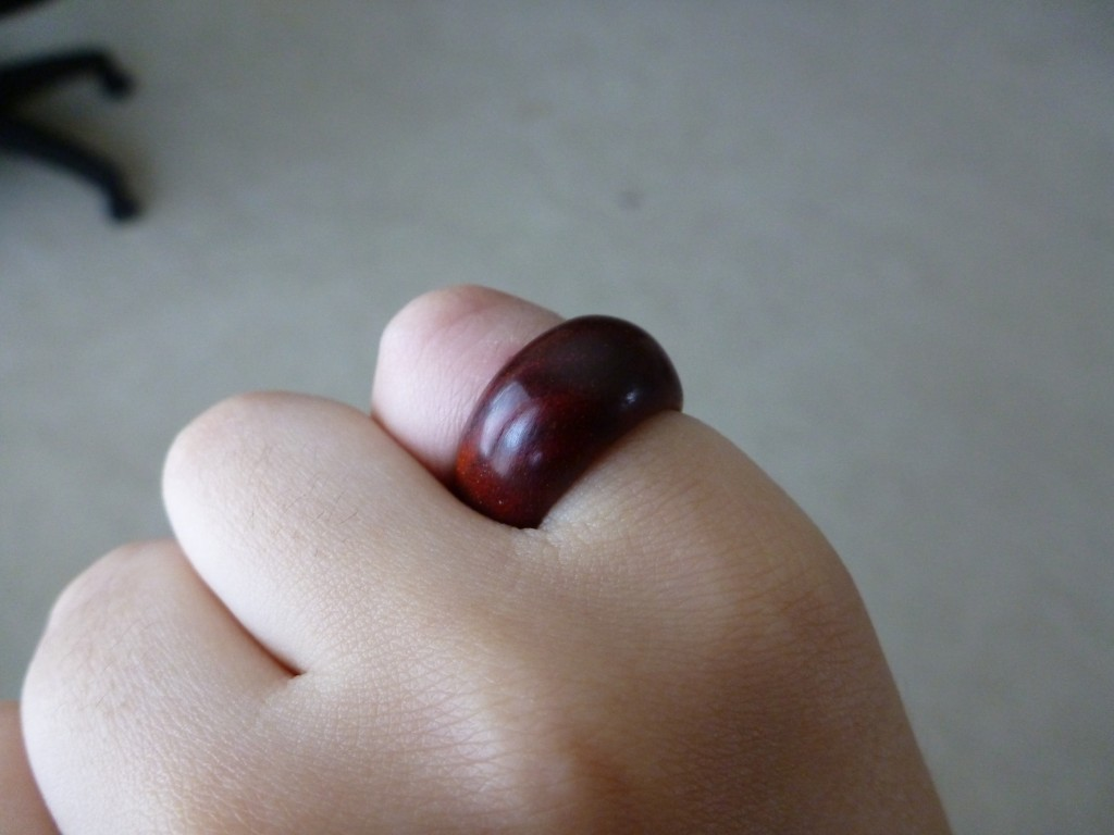 Rosewood Pinky Ring